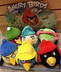 angry birds winter limited edition plush toys with hats set
