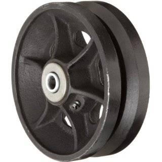 Casters VIR 0620 08 6 Diameter X 2 Width Cast Iron V Groove Wheels