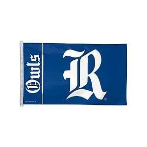 Rice Owls Official Logo 3x5 Banner Flag