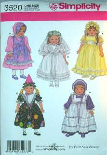 18 American Girl Doll Clothes SEW PATTERN Historic Period Costume