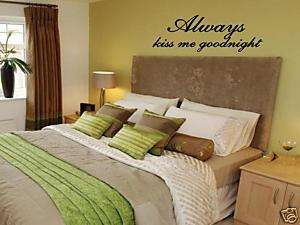 Always Kiss me Goodnight Wall Art Vinyl Decal Decor