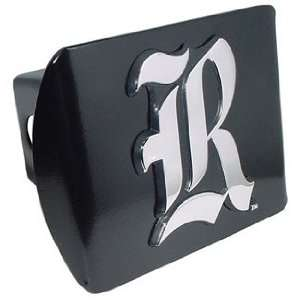 Rice University Owls Black with Chrome Scripted R Emblem NCAA