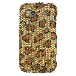 Full Diamond Rhinestone Gold Leopard Design Protector Hard