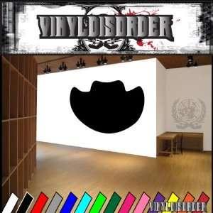 Western Cowboy Hat NS001 Vinyl Decal Wall Art Sticker