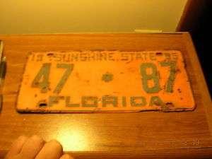 1955 55 FLORIDA FL LICENSE PLATE NICE TAG BIN LOW #