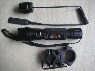 XM L T6 750Lm Flashlight + Remote + Scope Mount Hunting Kit 01B