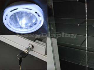 Wall Display Case Retail Store Fixture w/ Lights #WC4B