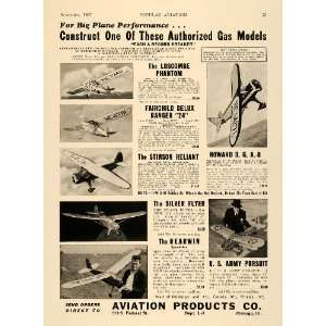 Airplanes Aviation Products Build Kit   Original Print Ad Home