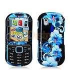Blue Black Flower Hard Skin Case Cover for Samsung Intensity 2 II U460
