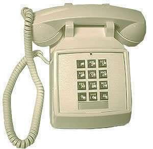 PHONE RETRO~ IVORY PUSH BUTTON DESK TELEPHONE ~VINTAGE~