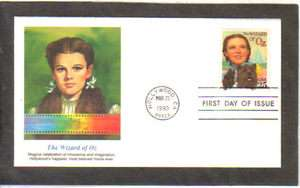 WIZARD OF OZ JUDY GARLAND FIRST DAY STAMP CACHET COVER FDC
