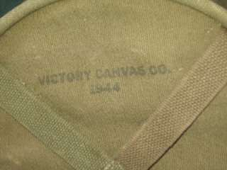 Vintage US WWII Victory Canvas Co Satchel Tote Ammo Tool Mail Bag 1944