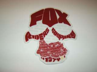 MOTOCROSS QUAD BMX SKATEBOARD RED FOX RIDERS 1974 STICKER DECAL