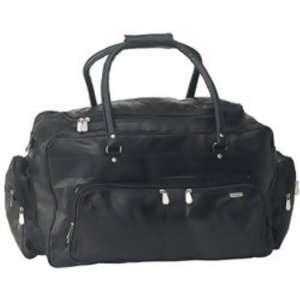 Stone Design 23 Black Genuine Leather Travel Bag Sports & Outdoors