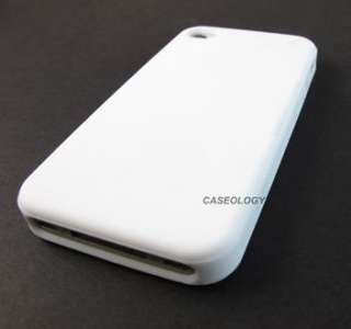 WHITE SOFT SILICONE RUBBER GEL SKIN CASE COVER APPLE IPHONE 4 4s
