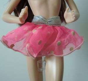 Hot Pink Polka Dot Tutu Skirt Barbie Doll Clothes