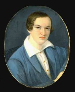 cir 1830s MINIATURE PORTRAIT OF A YOUNG GENTLEMAN