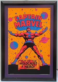 CAPTAIN MARVEL OUT of HOLOCOST THIRD EYE FRAMED Poster 1971 Black