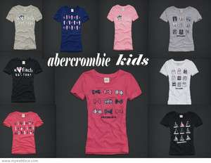 ABERCROMBIE KIDS GIRLS T SHIRTS TOPS NEW L XL NWT