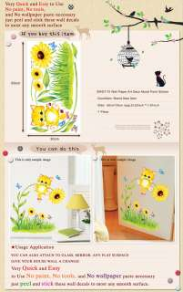 SWST 72 CUTIE CAT Kids Wall Deco Decor Mural Sticker