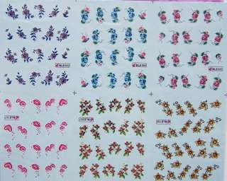 120x Nail Art Temporary Tattoos Stickers new 049