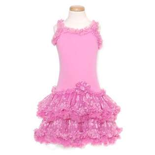 GeGe Toddler Girls Pink Mesh Tutu 1pc Outfit Dress 3T