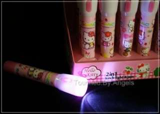 HELLO KITTY 2in1 TORCH & PEN Kids Flashlight SANRIO Novelty Pen Light
