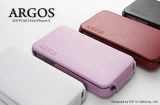 SGP Leather Pouch Case [Argos Black] for Apple iPhone 4S