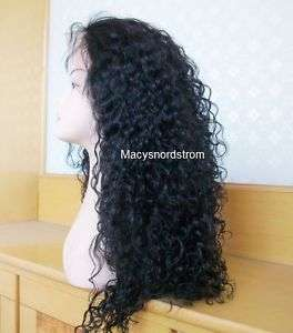 100% Indian Remy Human Hair Wig 20 Full Lace Curly