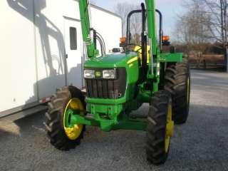 2012 JOHN DEERE 5065E, 4 WHEEL DRIVE TRACTOR W/ JOHN DEERE FRONT END