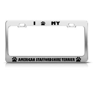 American Staffordshire Terrier Dog license plate frame