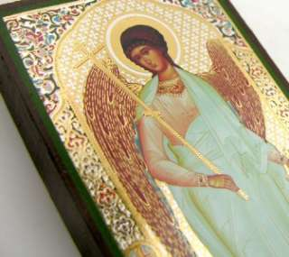 Guardian Angel Protector Russian Icon Gold Foil 5 NEW!