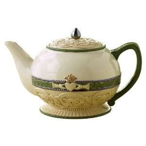 Celebrating Heritage Celtic Knot and Claddagh Symbol Teapot 58 ounce