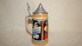 Small West Germany Lidded Beer Stein Mug ~ Ein Herz jm Bandl Mariandl