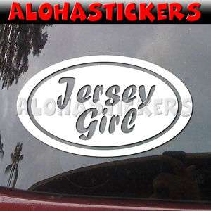 Euro Oval JERSEY GIRL Vinyl Decal Window Sticker EU249