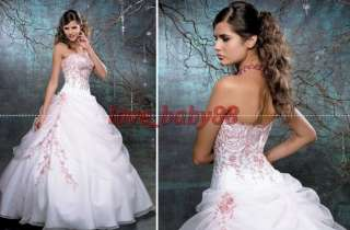 custom Applique Quinceanera dress Wedding gown Prom Ball Dress*Formal