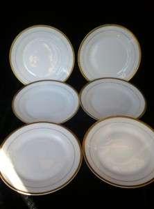NORITAKE MADE IN JAPAN ~White & Gold Trim & Ring~ BREAD PLATES