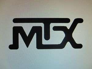 MTX car audio decal sticker