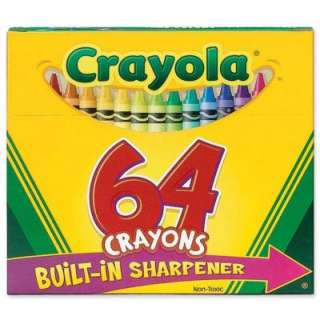 64 Crayola Classic Color Pack Crayons, Assorted 071662000646