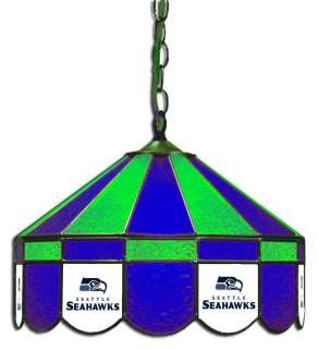 SEAHAWKS 16 STAINED GLASS HOME HANGING GAME ROOM PUB BAR LIGHT LAMP