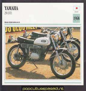 1968 YAMAHA 250 DT1 Motorcycle ATLAS PICTURE SPEC CARD