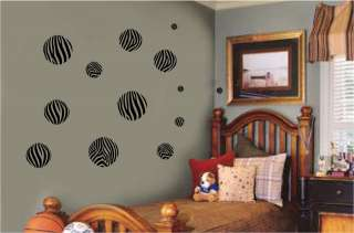 Animal Print Dots Circles Wall Sticker Vinyl Decal Jungle Room Decor