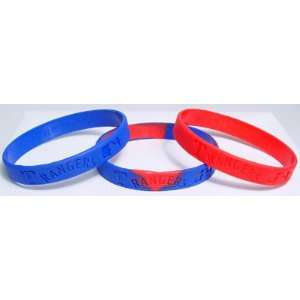 Major League Baseball Team Wrist Band Sets   Texas Rangers