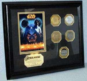 Disney Star Wars Tours 2005 Framed Coin Set Lt Ed 250