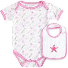 Reebok Dallas Cowboys Infant Mother May I Bodysuit & Bib Set   Pink
