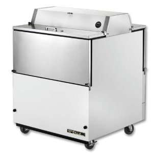34 White Vinyl Dual Sided Milk Cooler  8 Crate Capacity Appliances