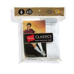 Calf Tube Socks (6 pack)  Hanes Clothing Mens Underwear & Socks