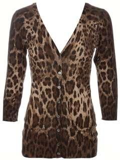 Dolce & Gabbana Leopard Print Cardigan   Tessabit   farfetch