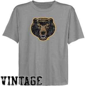 Baylor Bears Youth Ash Distressed Logo Vintage T shirt