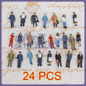 24pc Assorted Model People Passenger Bus Station Layout